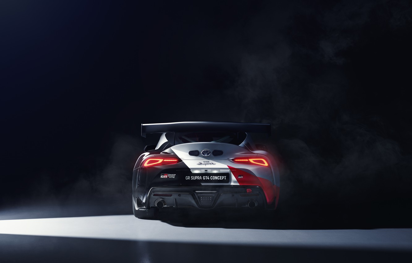 Photo wallpaper machine, coupe, concept, lights, sports car, Toyota, GT4, GR Above