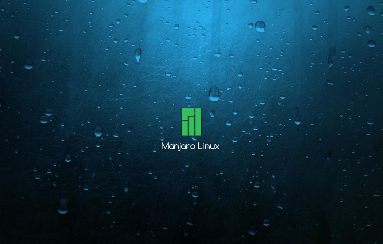 Photo wallpaper Blue background, Linux, blue background, Manjaro Linux, Manjaro, LINUX, Blue Background