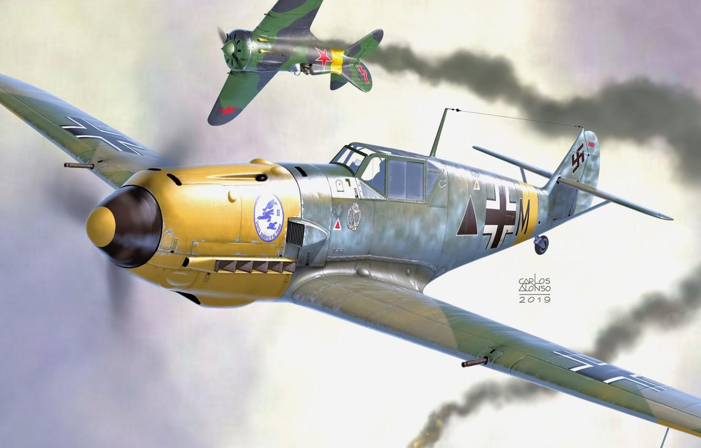 Photo wallpaper Messerschmitt, -16, Bf-109E, Bf. 109E-7