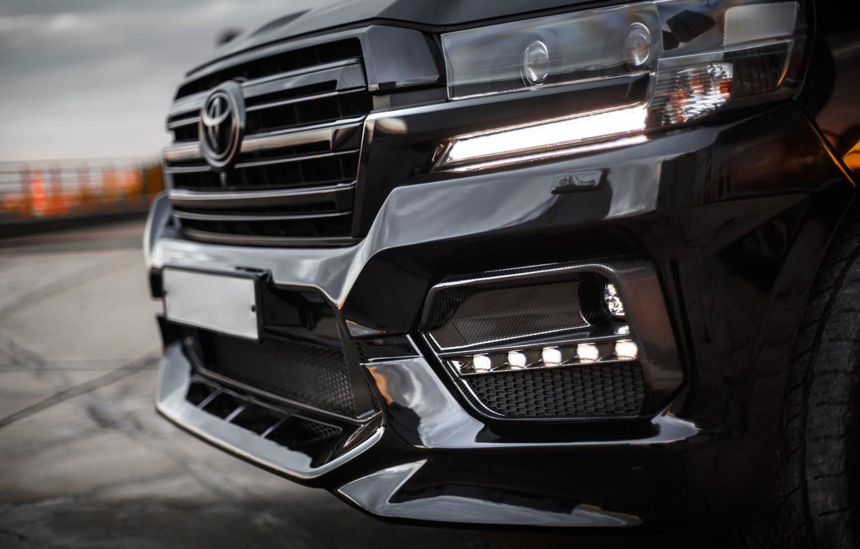 Photo wallpaper Toyota, Carbon, Land Cruiser 200, kit Warrior