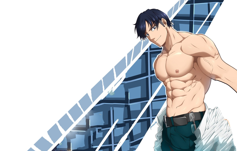 Photo wallpaper Background, Guy, Muscles, My Hero Academia, Boku No Hero Academy, My Hero Academy