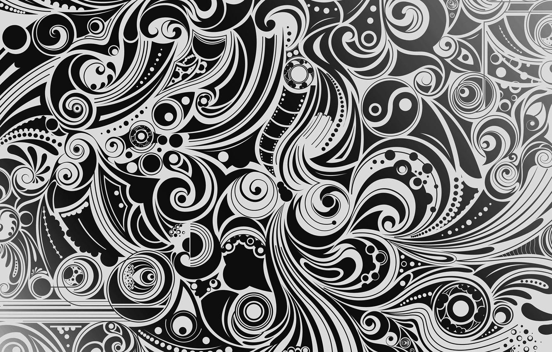 Photo wallpaper white, background, pattern, black, figure, vector, texture, form