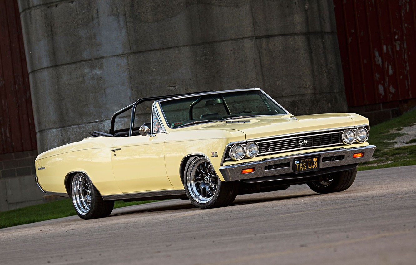 Photo wallpaper Chevrolet, Chevelle, Convertible, Vehicle, Chevelle SS, SS, Pro Touring