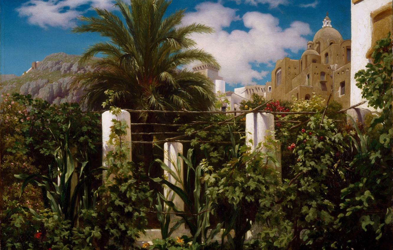Photo wallpaper Capri, 1859, The hotel's garden, Frederick Leighton