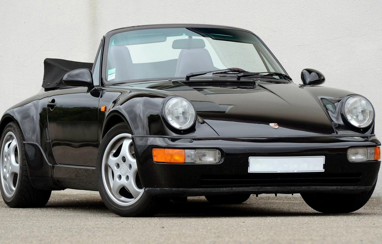 Photo wallpaper 911, Porsche, Carrera, Turbo, 1990, Cabriolet, 2