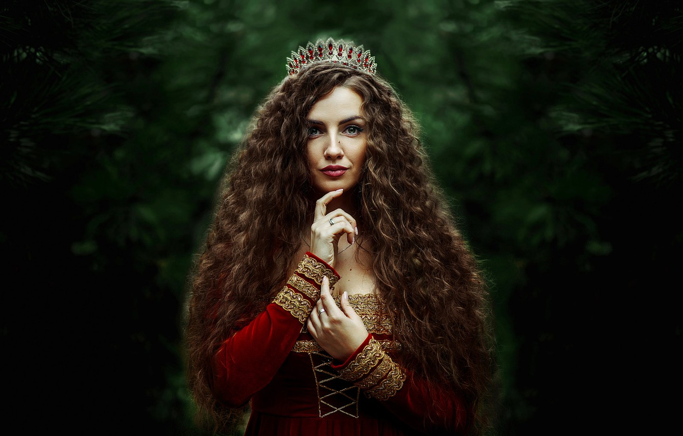 Photo wallpaper Girl, Queen, Ann Nevreva