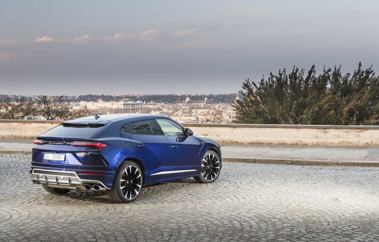 Photo wallpaper Lamborghini, rear view, 2018, crossover, Urus, ITA