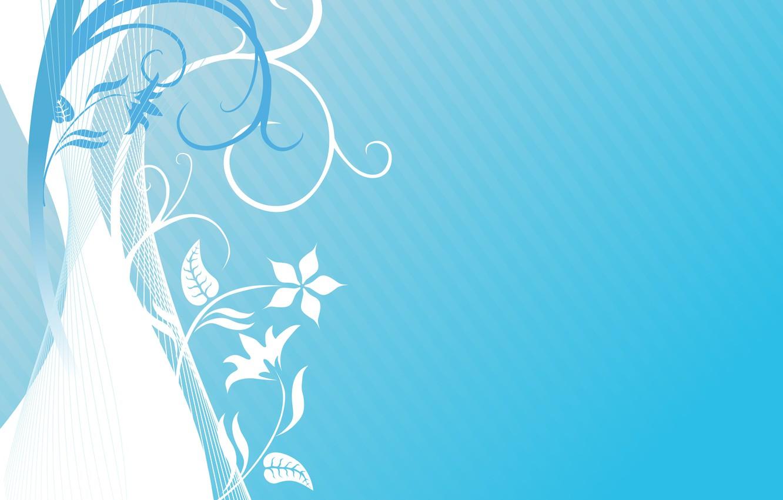 Wallpaper Flowers Texture Light Blue Background Blue
