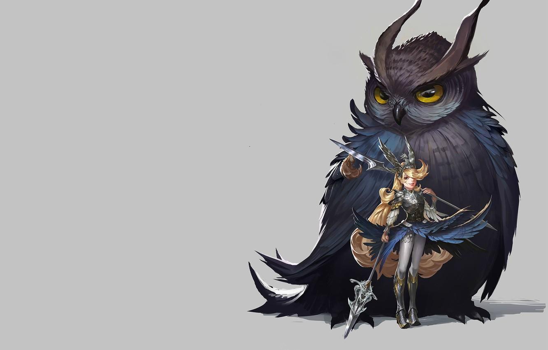 Photo wallpaper owl, the game, art, driving, mount, costume design, Chen Wang, Owl