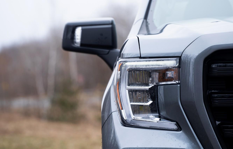 Photo wallpaper headlight, before, pickup, 2018, GMC, Sierra, Crew Cab, 2019, Elevation