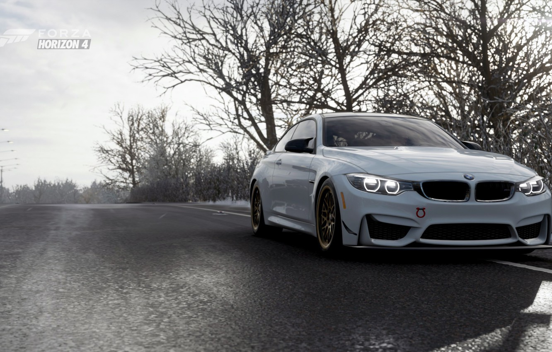 Photo wallpaper track, Winter, BMW M4, Forza Horizon 4