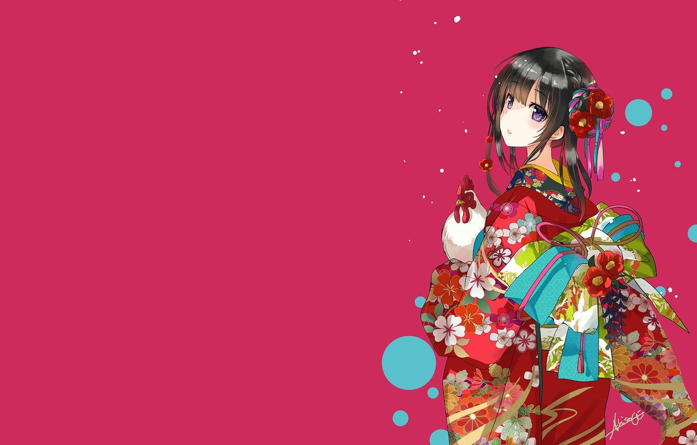 Photo wallpaper girl, the Japanese girl, beautiful Asian girl