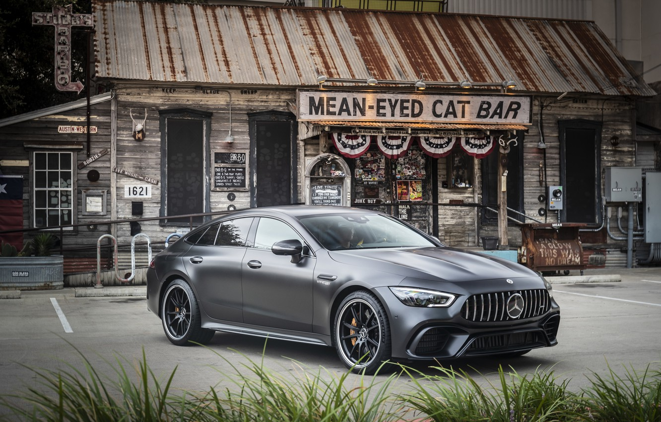 Photo wallpaper Mercedes - Benz, 2018, sports coupe, Mercedes - Benz, Mercedes-AMG GT 63S 4MATIC+4Door-Coupe, hyacinth red …