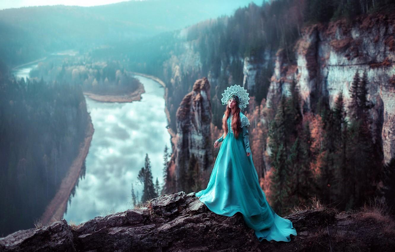 Photo wallpaper forest, landscape, rocks, photographer, Princess, Ural, Russian beauty, Princess, Sverdlovsk oblast, Maria Lipina, village Chusovoe, …