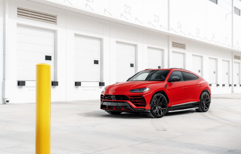 Photo wallpaper Lamborghini, RED, Urus, Vossen, VAG