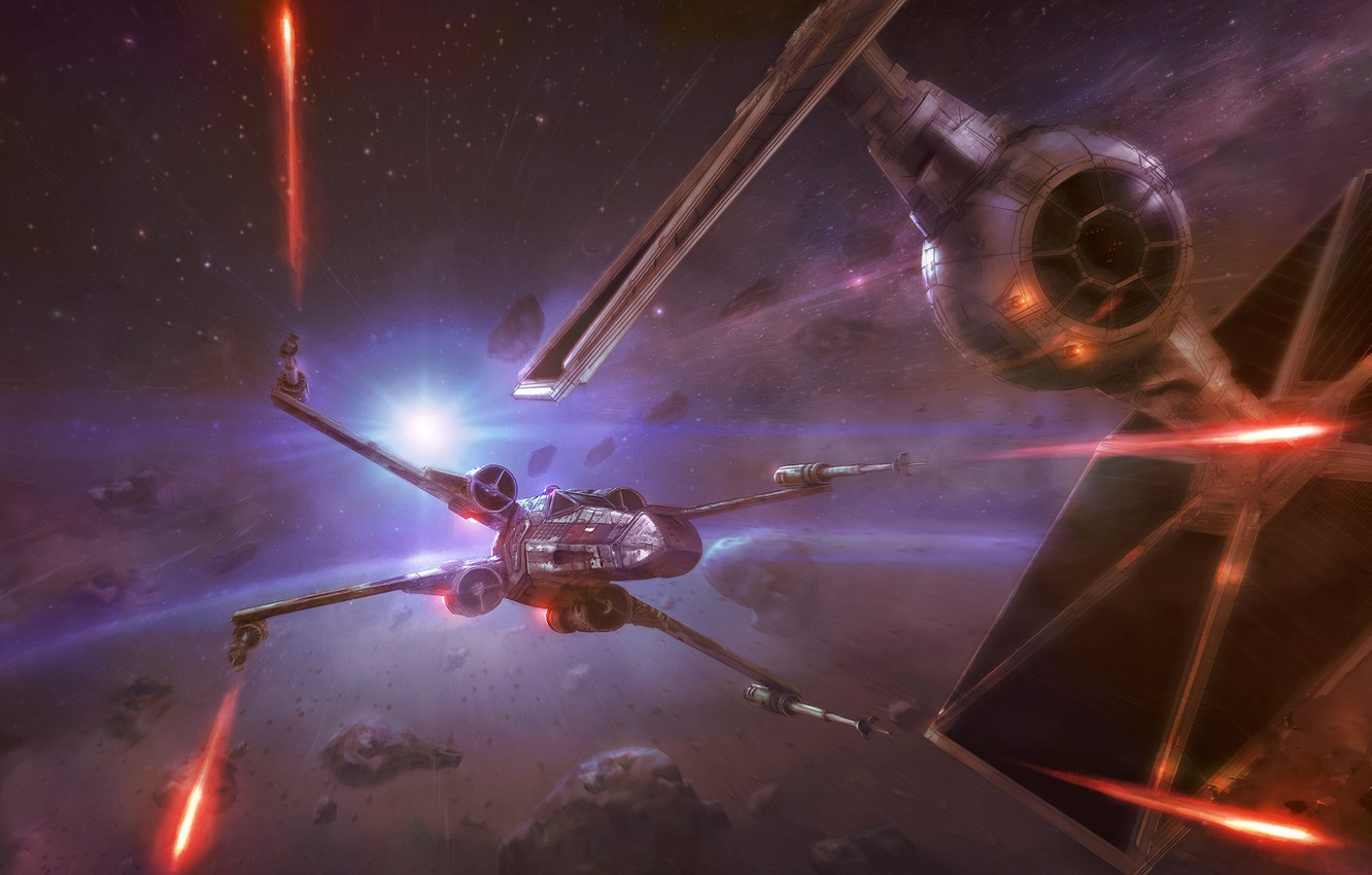 Wallpaper Space Fighter Star Wars Battle Fighters Concept Art Attack X Wing Science Fiction X Wing Tie Fighter Tie Transport Vehicles Control Tie Ln Starfighter Images For Desktop Section Filmy Download