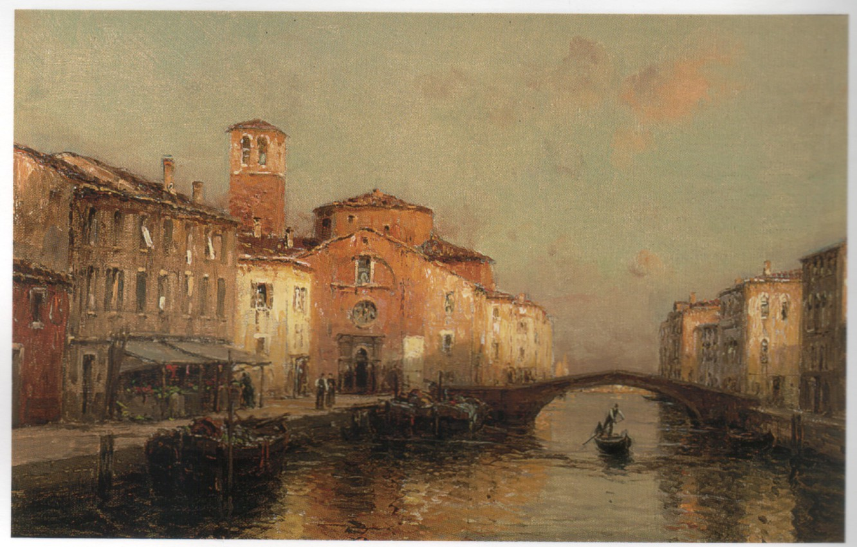 Photo wallpaper bridge, boat, arch, BOUVARD, VENETIAN BACKWATERS 3