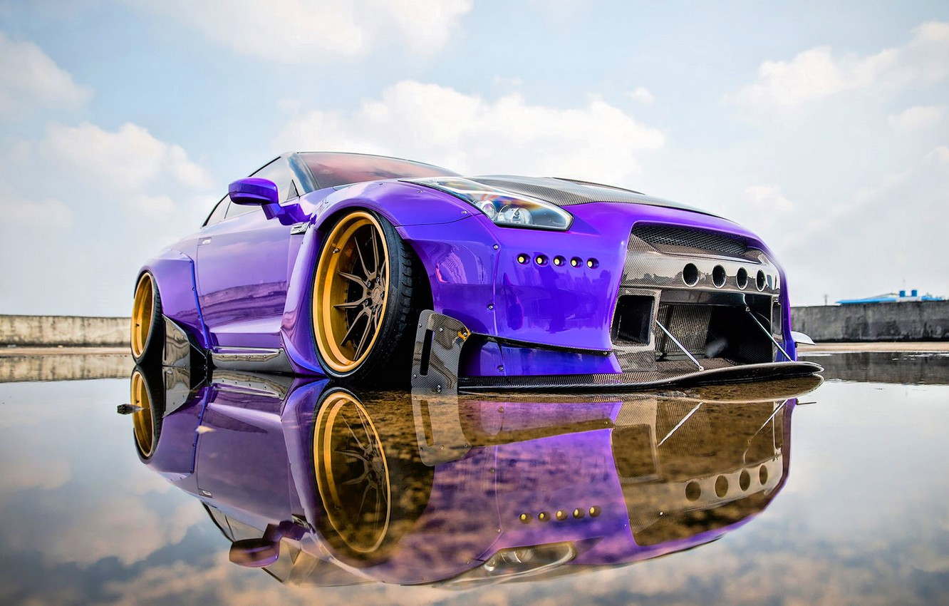 Photo wallpaper Nissan, GT-R, Tuning, Nissan GT-R, Widebody, Purple Pandem, Pandem Nissan GTR, Rocketbunny, Purple Pandem Rocketbunny …