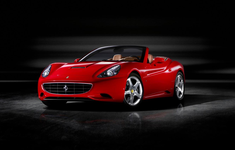 Photo wallpaper red, Ferrari, Roadster, California