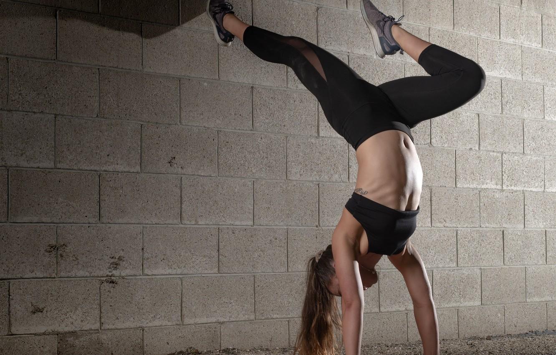 Photo wallpaper wall, woman, fitness, flexibility