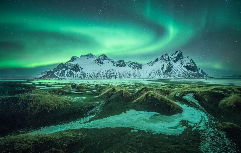 Wallpaper Lights Mountain Nature Iceland Images For Desktop Section Pejzazhi Download