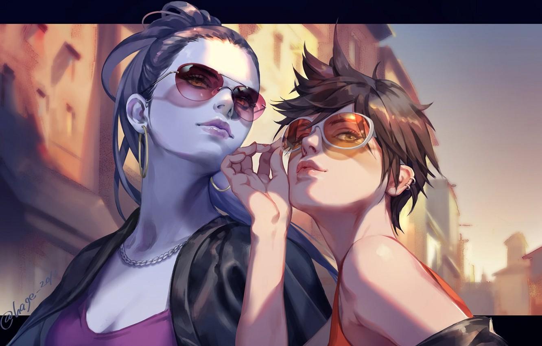 Photo wallpaper Sunglasses, Overwatch, Tracer, Widowmaker, Amélie Lacroix