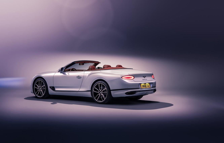 Photo wallpaper Bentley, Continental GT, rear view, Convertible, 2019