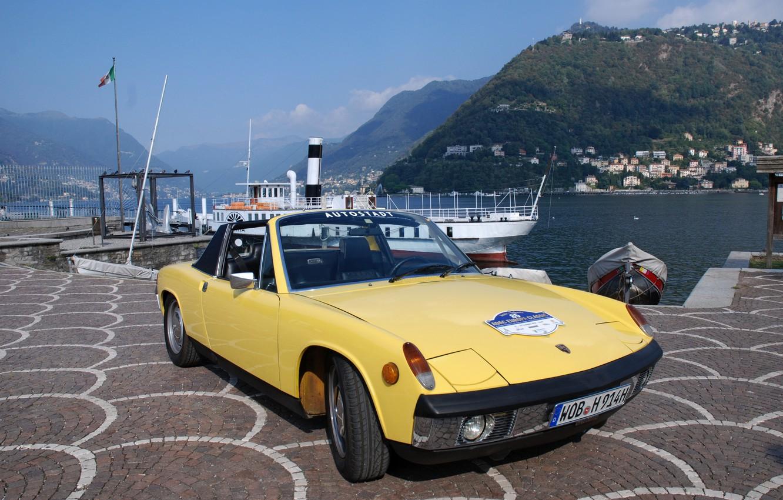 Photo wallpaper yellow, Marina, Porsche, Volkswagen, 1970, Targa, 914, VW-Porsche, coupe-Roadster, 914/6