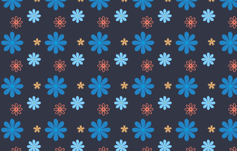 Photo wallpaper flowers, blue, design, background, texture