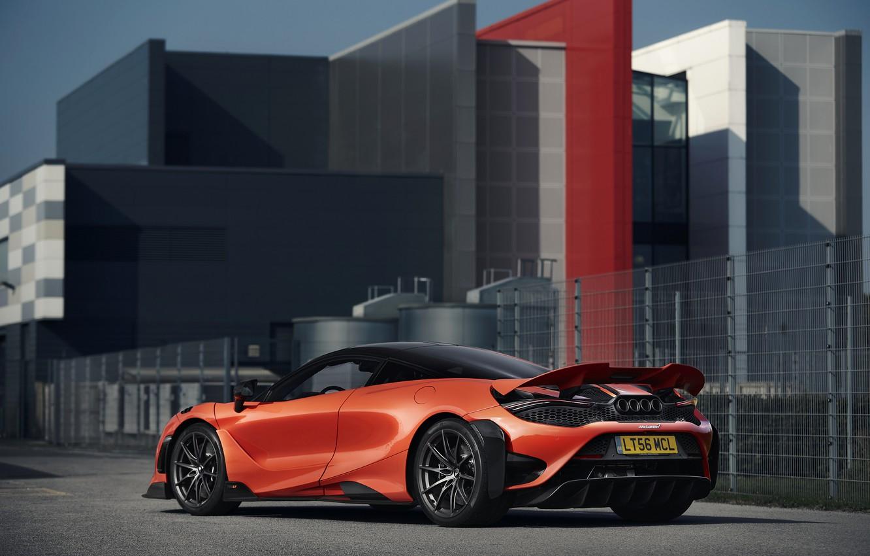 Photo wallpaper orange, the building, coupe, McLaren, 2020, 765LT