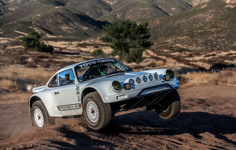 Photo wallpaper 911, Porsche, the roads, 964, 2019, 911 Baja Prototype, Russell Built Fabrication