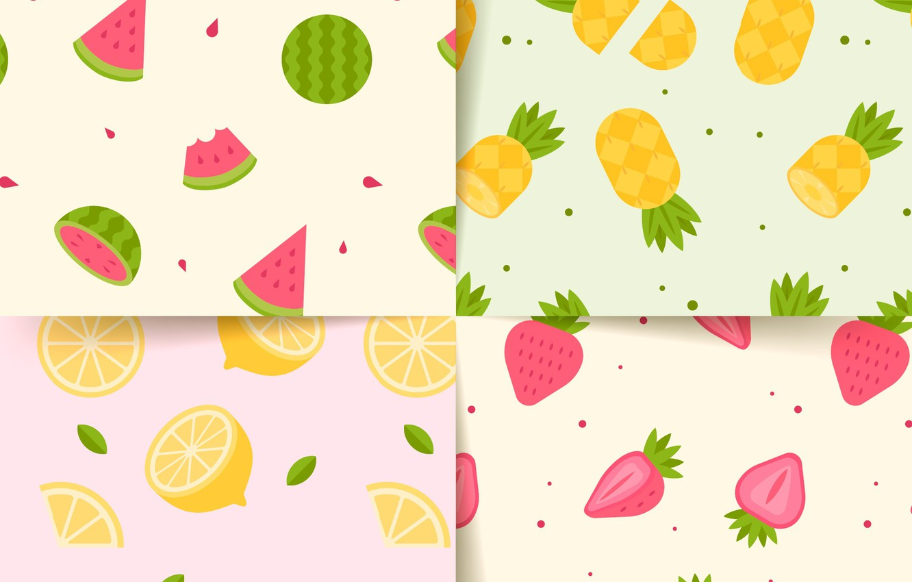 Photo wallpaper background, texture, strawberry, fruit, patterns, Summer, collection