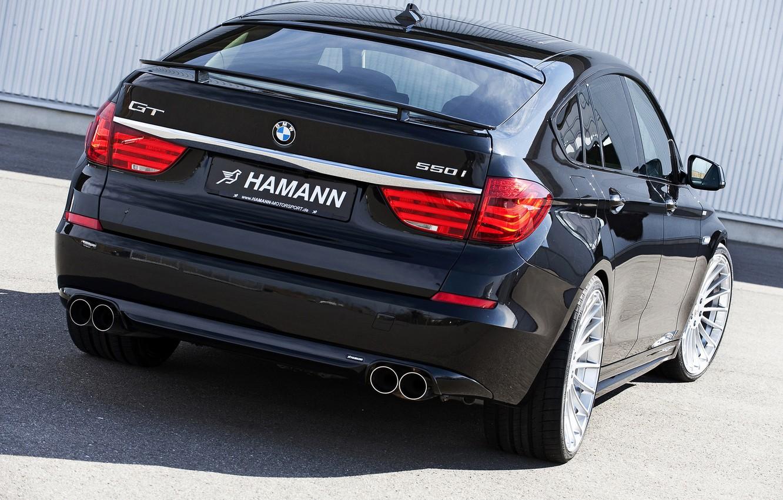 Photo wallpaper BMW, Hamann, 2010, rear view, Gran Turismo, 550i, 5, F07, 5-series, GT