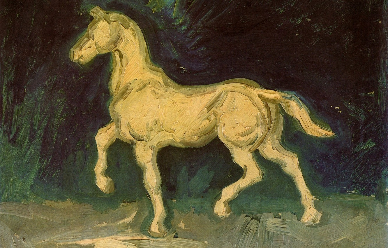 Photo wallpaper Vincent van Gogh, white horse, Plaster Statuette of a Horse