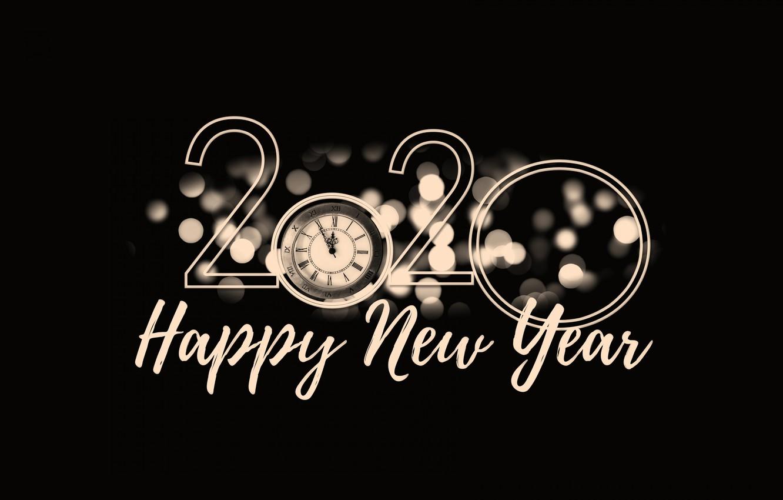 Wallpaper Alarm Clock Happy New Year Happy New Year 2020