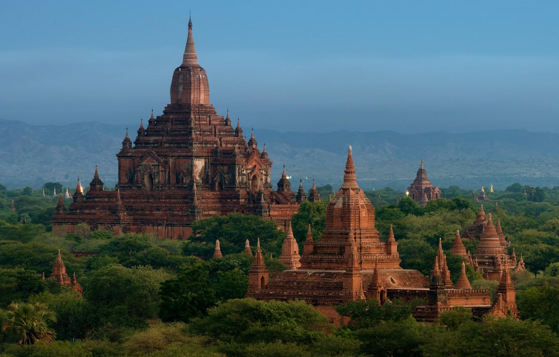 Photo wallpaper Myanmar, temples, Bagan