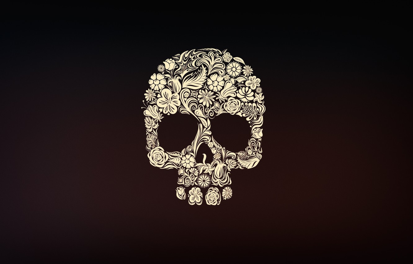 Wallpaper Minimalism Skull Style Background Calavera Day Of