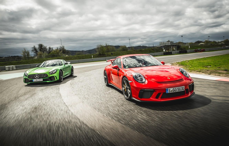 Photo wallpaper 911, Porsche, Mercedes, AMG, GT3, GT R