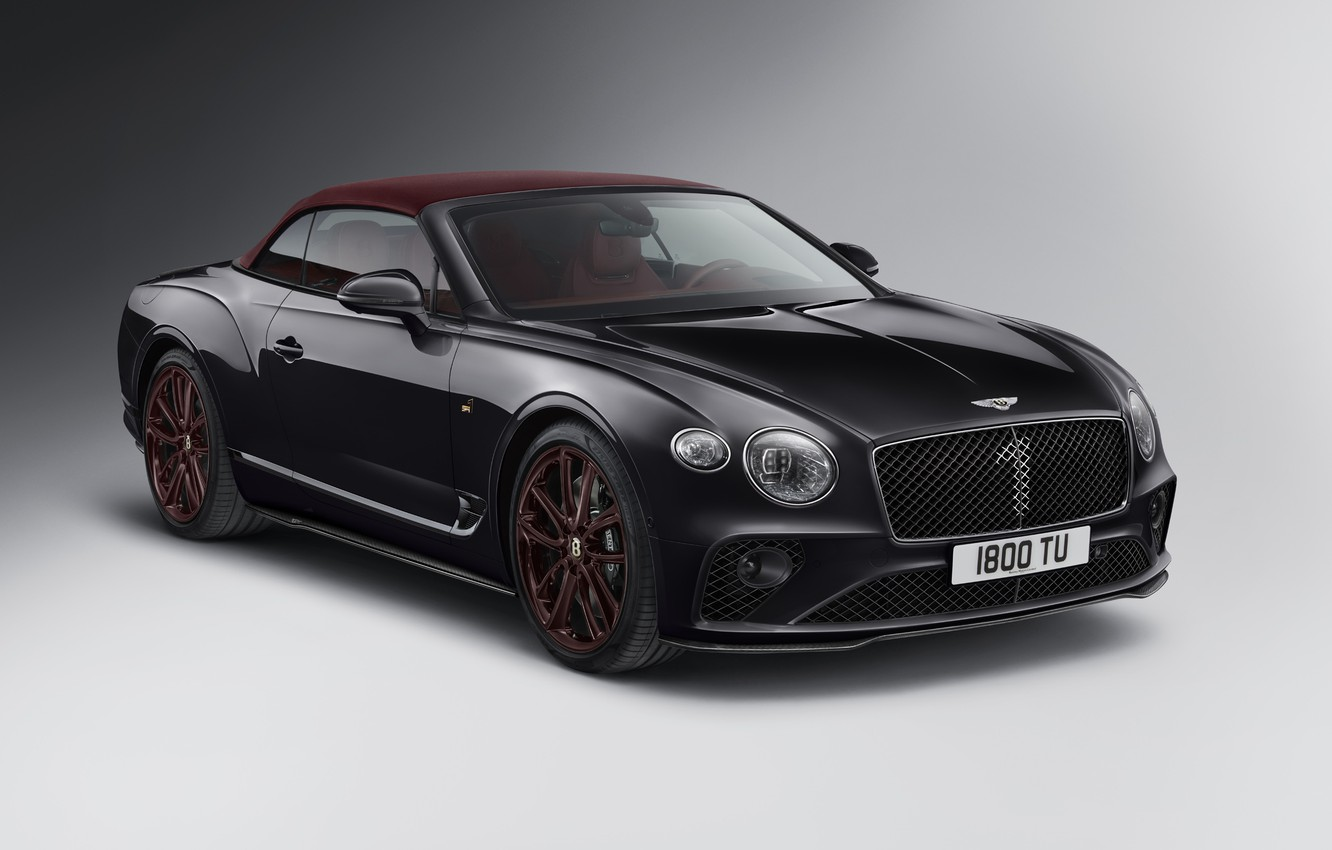 Photo wallpaper machine, Bentley, Continental GT, convertible, Mulliner, Number 1Edition