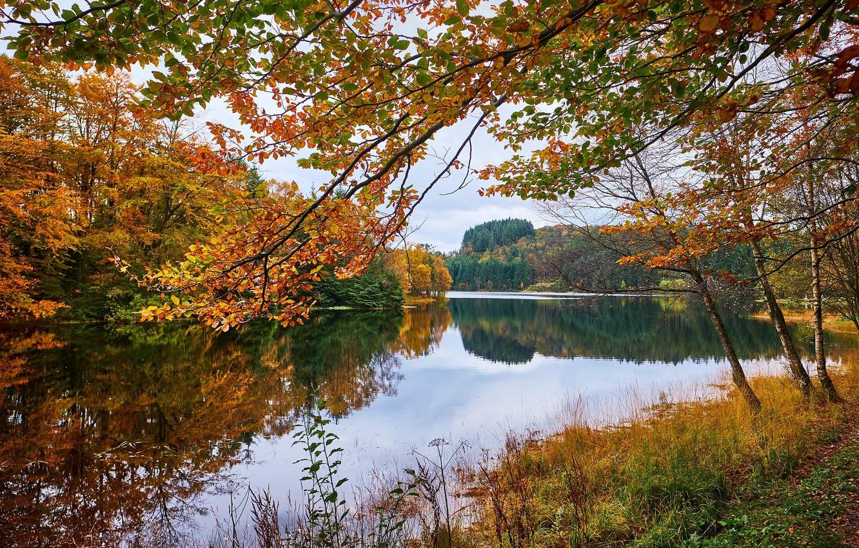Photo wallpaper autumn, Norway, Eivindsvatnet