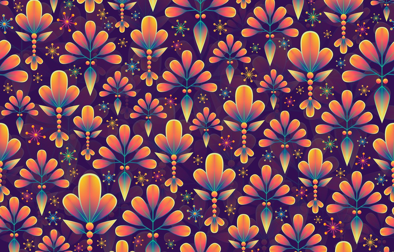 Photo wallpaper leaves, snowflakes, background, graphics, texture, digital art, flora