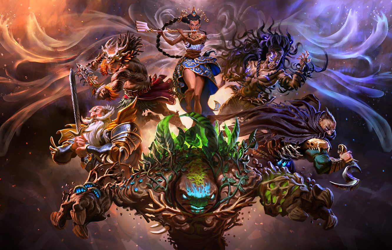 Photo wallpaper the game, fantasy, art, Mike Azevedo, game Force of Elements, Force of Elements