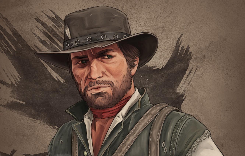 Wallpaper hat, rockstar, cowboy, Red Dead Redemption 2, arthur