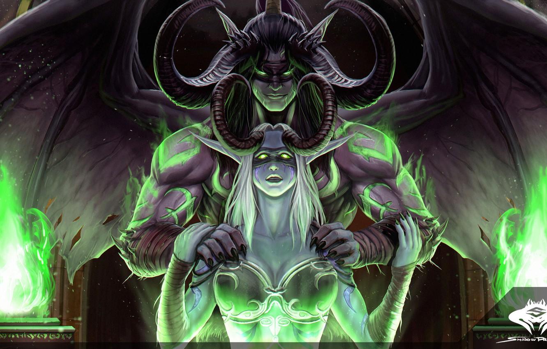 Wallpaper Figure Elf Illidan The Demon Wow Blizzard Art
