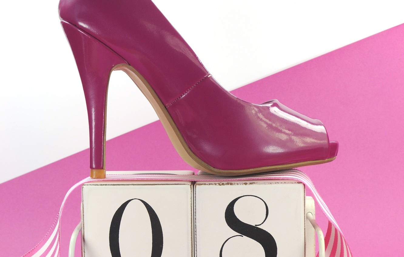 Photo wallpaper shoes, March 8, women's day