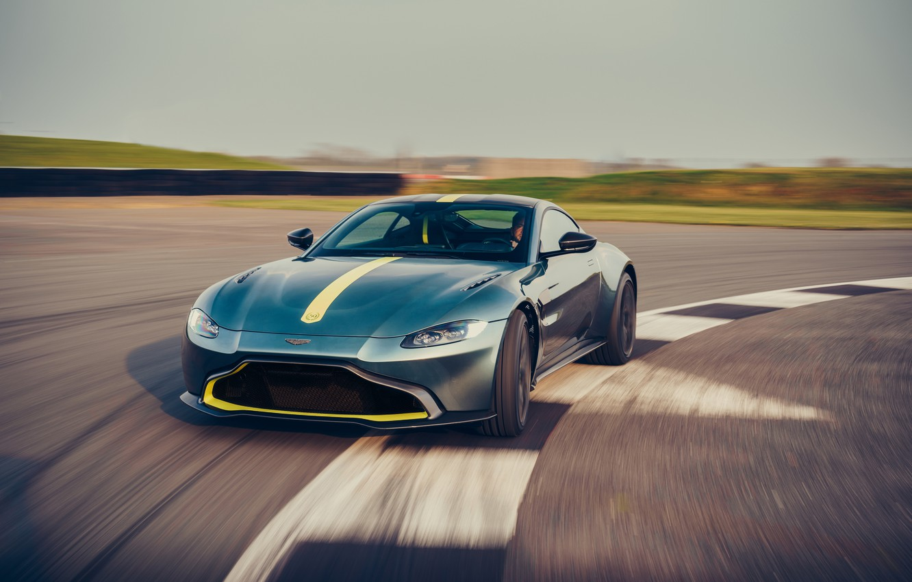 Photo wallpaper machine, Aston Martin, speed, Vantage, sports car, racing track, AMR