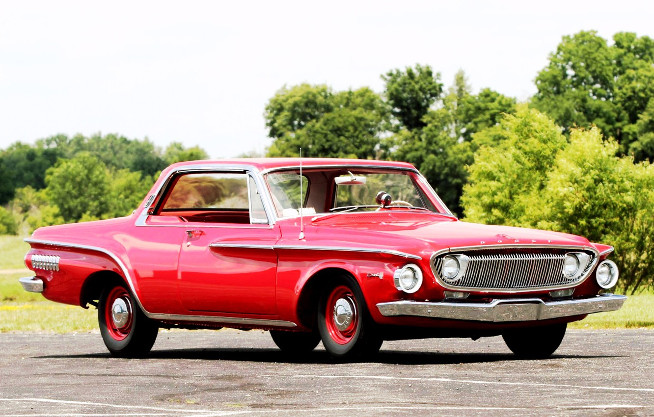 Photo wallpaper Muscle, Dodge, Red, Old, Dart