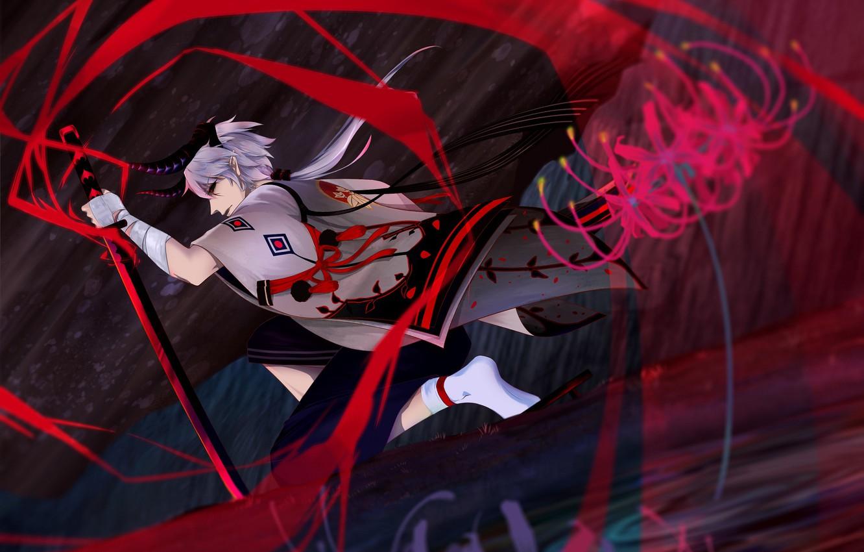 Photo wallpaper the game, fantasy, art, guy, Onmyouji, Onmyouji (NetEase), Onikiri