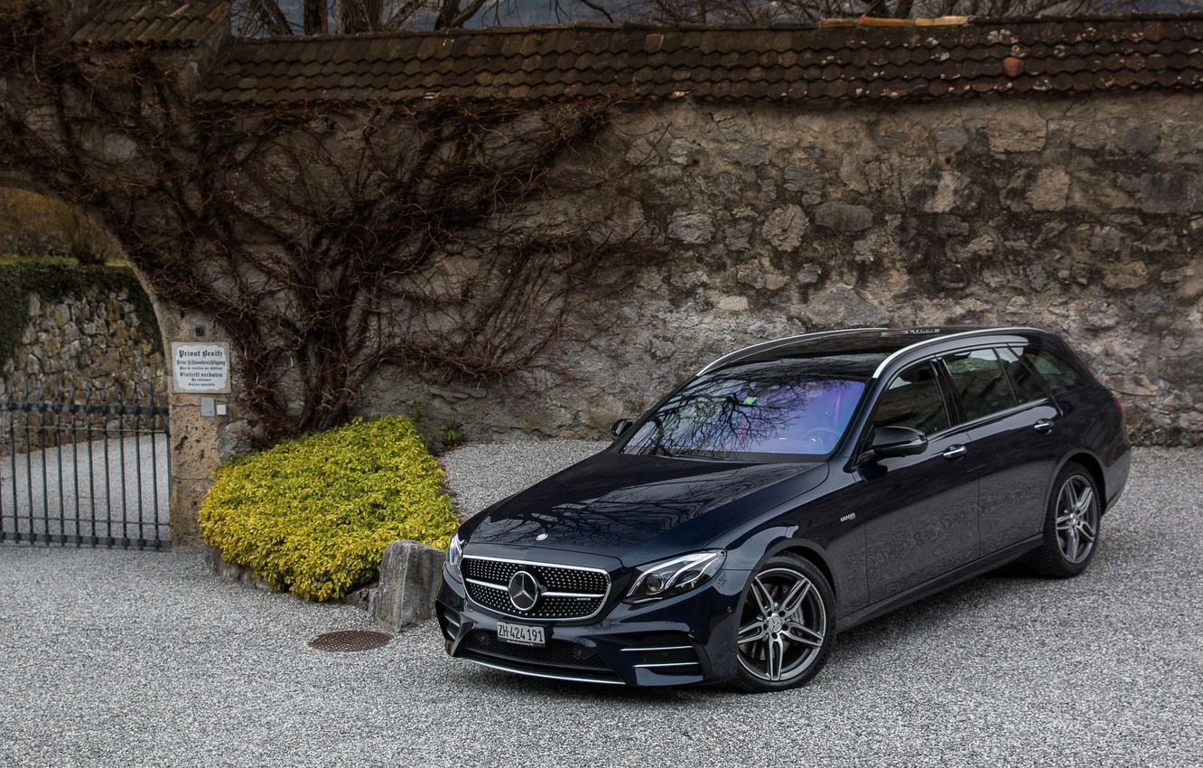 Photo wallpaper Mercedes, AMG, E43, Combi