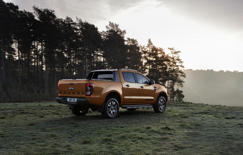 Photo wallpaper forest, Ford, pickup, Ranger, Wildtrak, 2019